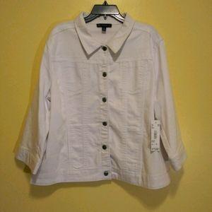 Ciao womens white jacket New plus size